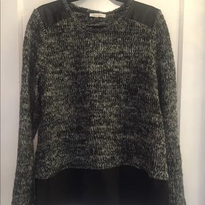 Calvin Klein Sweater Faux leather patches Large